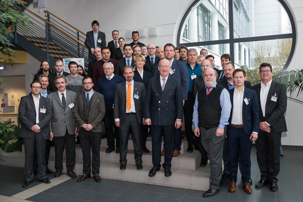 The project partners at the official kick-off event at DFKI Saarbrücken.